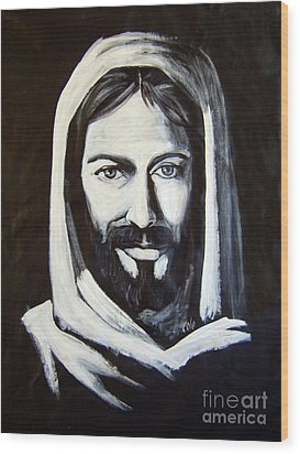 Christ Smiling Wood Print by Larry Cole