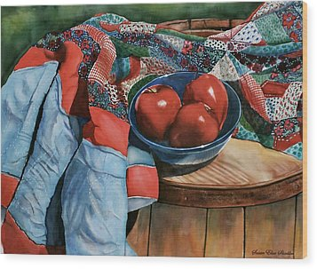 Christa's Quilt Wood Print by Susan Elise Shiebler