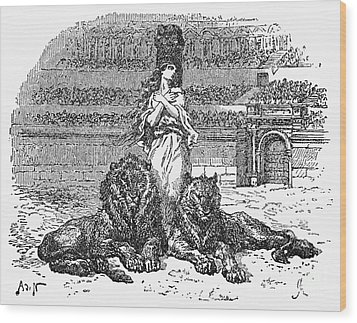 Christian Martyr Wood Print by Granger