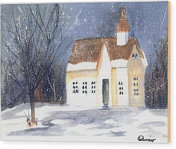 Christmas Eve Wood Print by Wendy Cunico