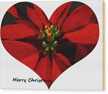 Christmas Greetings Wood Print by Vijay Sharon Govender