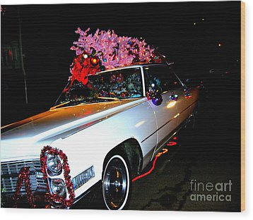 Wood Print featuring the photograph Christmas In The City  by Nancy Dole McGuigan