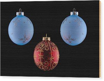 Christmas Ornaments Wood Print by Doug Long