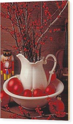 Christmas Still Life Wood Print by Garry Gay