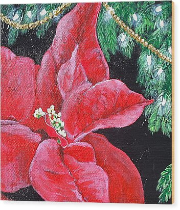 Christmas Time Wood Print by Melissa Torres