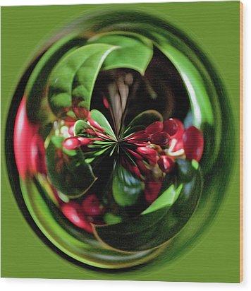 Christmas Time Orb Wood Print