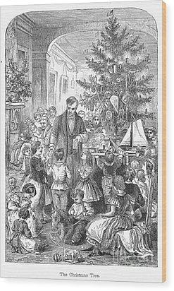 Christmas Tree, 1870 Wood Print by Granger