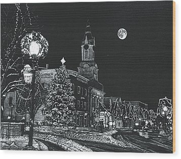 Christmastime Wood Print by Robert Goudreau