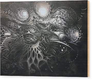 Chromanaught Wood Print by Adam Carsons