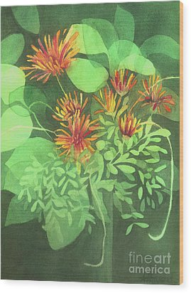 Chrysanthemums Wood Print by Anne Havard