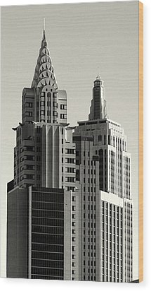 Chrysler And Empire Wood Print