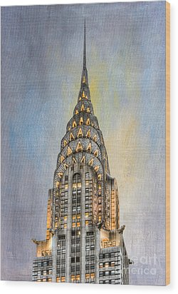 Chrysler Building I Wood Print by Clarence Holmes