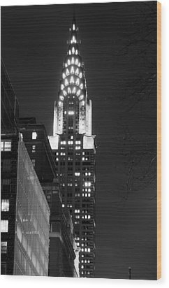 Wood Print featuring the photograph Chrysler Building by Michael Dorn