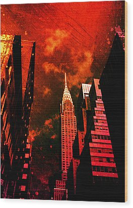 Chrysler Building - New York City Surreal Wood Print by Vivienne Gucwa