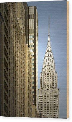 Chrysler Building Nyc - Streamlined Majesty Wood Print by Christine Till