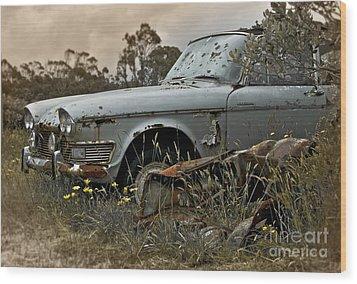 Chrysler Imperial Wood Print by Karen Lewis