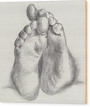 Chubby Feet Wood Print by Annemeet Hasidi- van der Leij