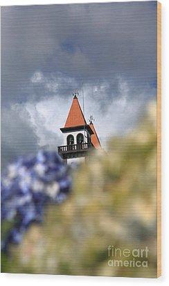 Church At Furnas Wood Print by Gaspar Avila