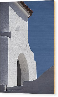 Church Bell Tower Chacras De Coria Wood Print by Philippe Widling