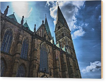 Wood Print featuring the photograph Church In Bremen by Edward Myers