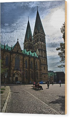 Church In Bremen Germany 2 Wood Print by Edward Myers