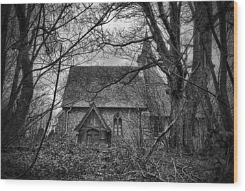 Church In The Woods Wood Print by Dave Godden