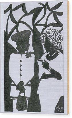 Church Ladies Wood Print by Rhetta Hughes
