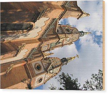 Church Wood Print by Odon Czintos