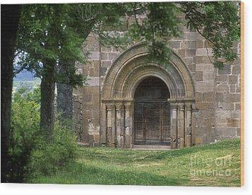 Church Of Bredons.cantal. France Wood Print by Bernard Jaubert