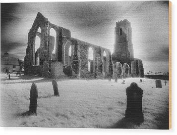 Church Of St Andrew Wood Print by Simon Marsden