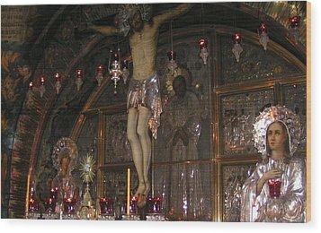 Church Of The Holy Sepulchre Jerusalem Wood Print by Valia Bradshaw