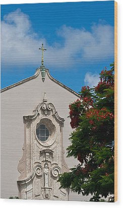 Wood Print featuring the photograph Church Of The Little Flower by Ed Gleichman
