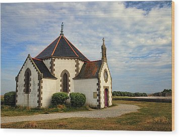 Wood Print featuring the photograph Church Off The Brittany Coast by Dave Mills