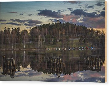 Wood Print featuring the photograph Church On A Hill by Matti Ollikainen