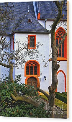 Church On Rhine Two Wood Print by Rick Bragan