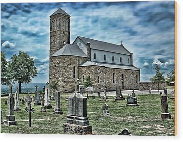 Wood Print featuring the photograph Church On The Hill by Renee Hardison