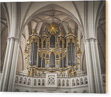 Church Organ Wood Print by Kurt Forschen