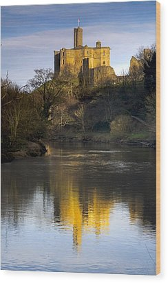 Church Reflection In Water, Warkworth Wood Print by John Short