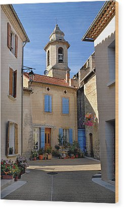 Wood Print featuring the photograph Church Steeple In Provence by Dave Mills