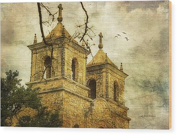 Wood Print featuring the photograph Church Towers by Joan Bertucci