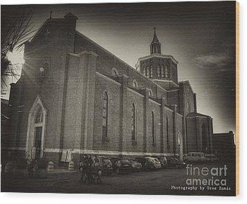 Church Wood Print by Uros Zunic