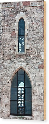 Church Windows Wood Print by Shirley Mitchell
