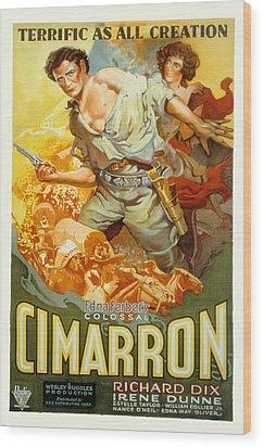 Cimarron, Richard Dix, Irene Dunne, 1931 Wood Print by Everett