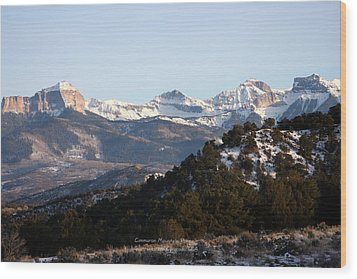 Wood Print featuring the photograph Cimmaron Range by Marta Alfred