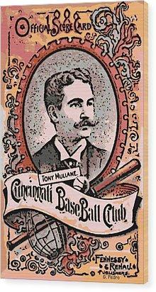 Cincinnati Baseball Wood Print by George Pedro