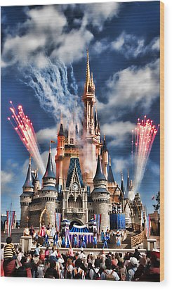 Cinderella's Castle Wood Print by Brent Craft