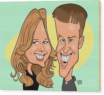 Cindy And Jordan Wood Print by Chris Berg