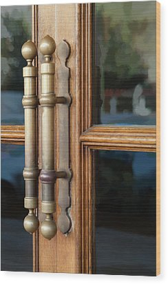 Cinema Door Wood Print by Michael Flood