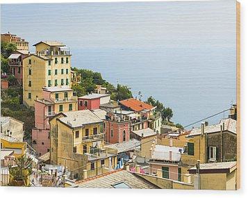 Cinque Terre - Riomaggiore Wood Print by Michal Krakowiak