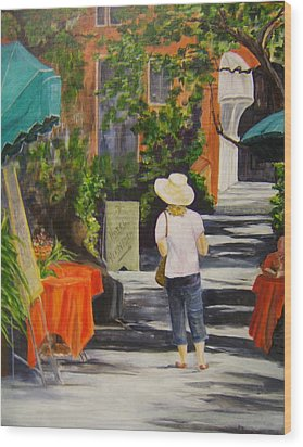 Cinque Terre Stroll Wood Print by Maureen Pisano
